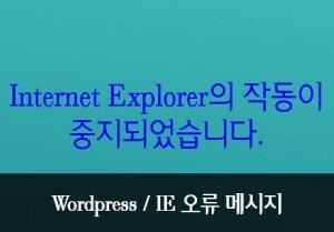 Internet Explorer의 작동이 중지되었습니다